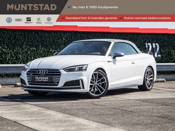 Audi A5 Cabriolet 3.0 TFSI S5 quattro | 354 PK | S-Line | B&O Sound | Assistentie City-Parking | S-Sportstoelen | Virtual Cockpit | Keyless-entry | Massage-Stoelen |