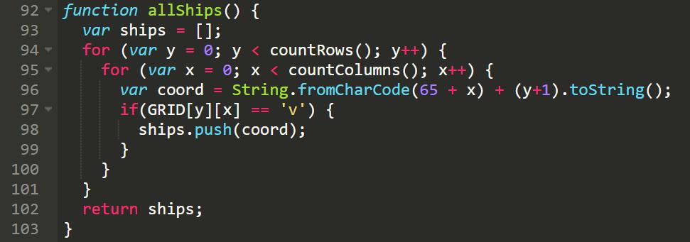 Sample function used