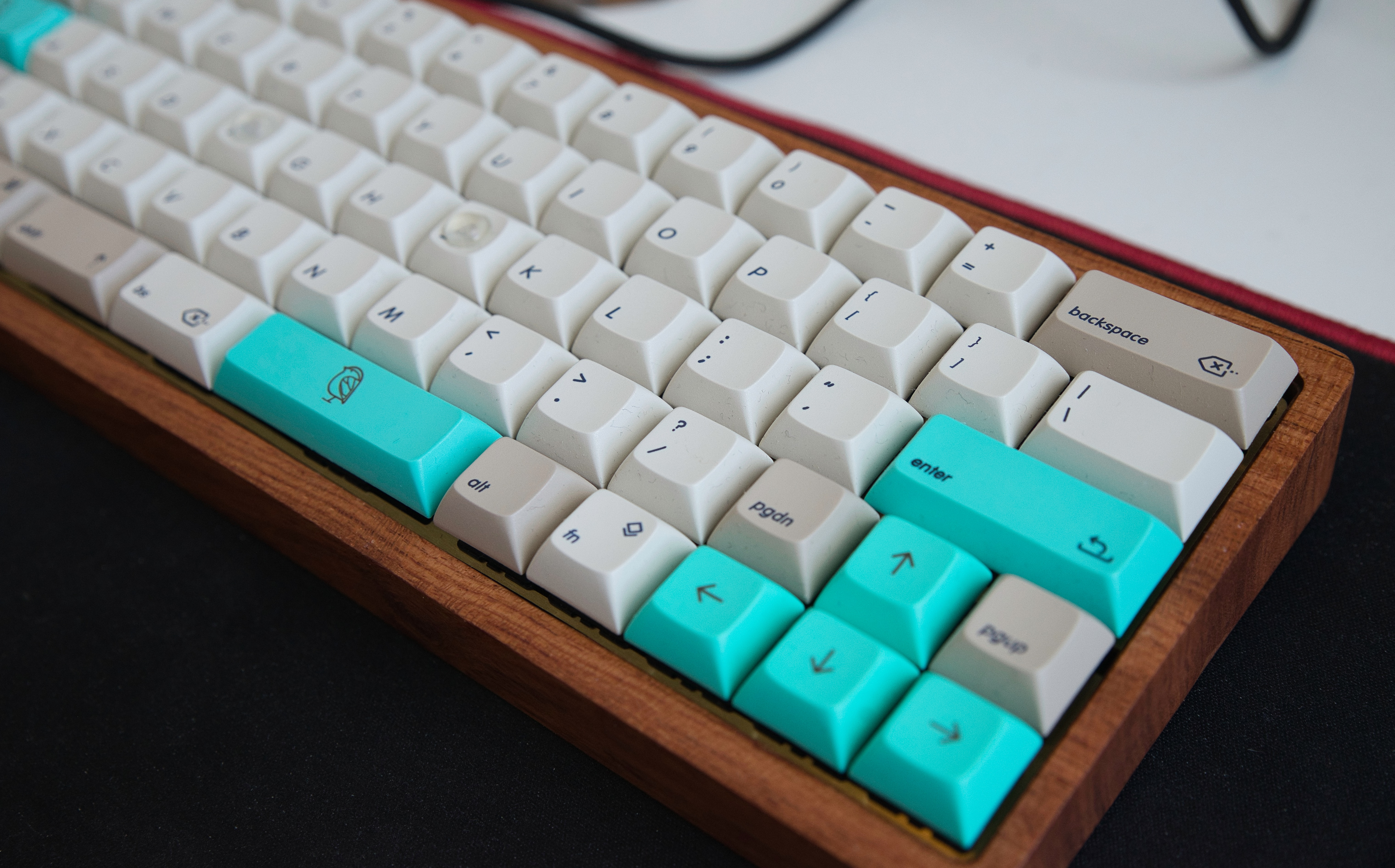 My custom built keyboard with a US layout