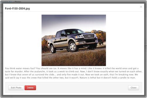 Store vehicle photos in Fleetio fleet management software