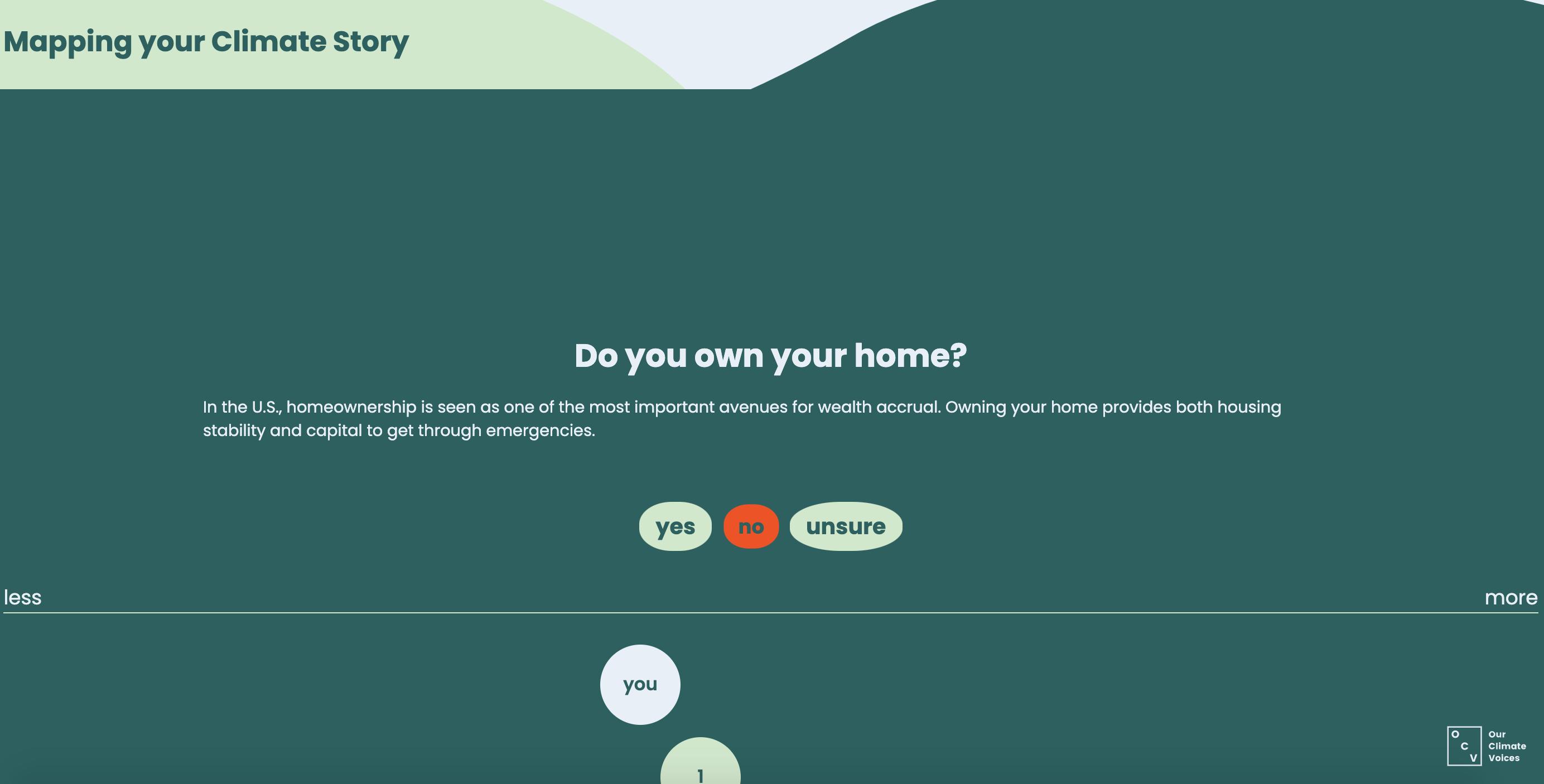 Screenshot of Climate Privilege Quiz