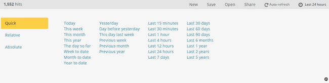 The expanded date timer picker