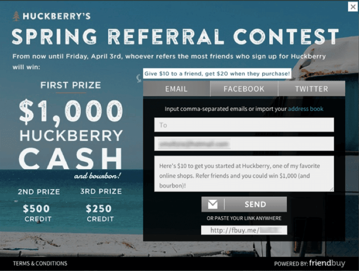 Huckberry referral contest