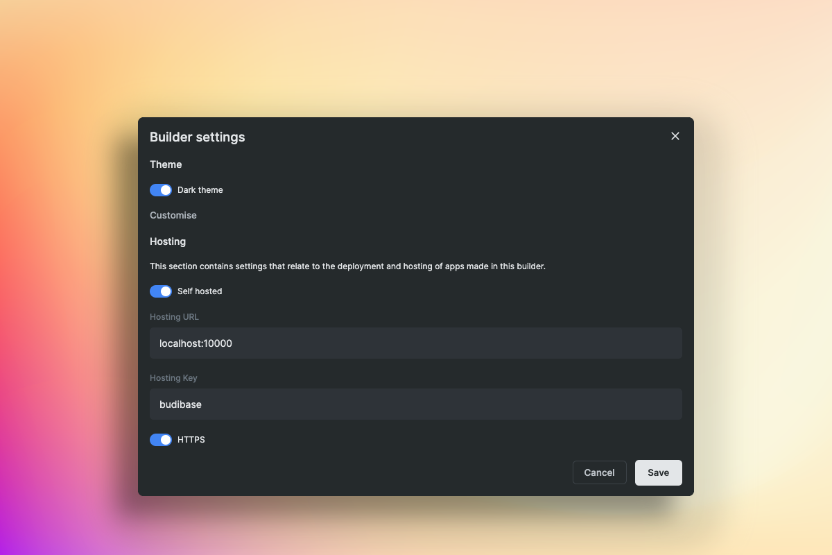 Deploy apps with Budibase