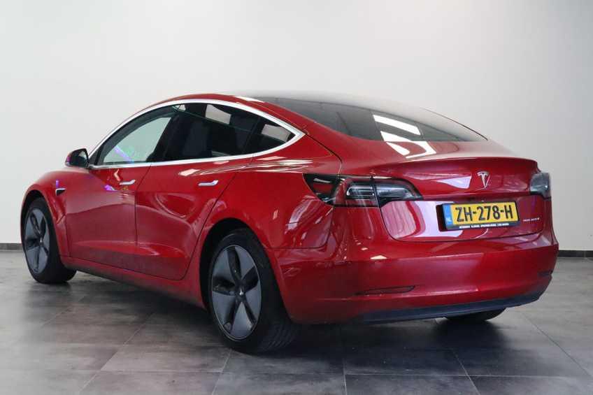 "Tesla Model 3 Long Range   prijs ex.btw 45950,-   FSD! Rood Zwart Navigatie 18""LM 4% Bijtelling Privacy glas 351 PK! afbeelding 18"
