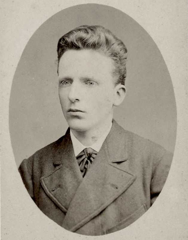 Theo Van Gogh (in 1878) was a life-long supporter and friend to his brother.
