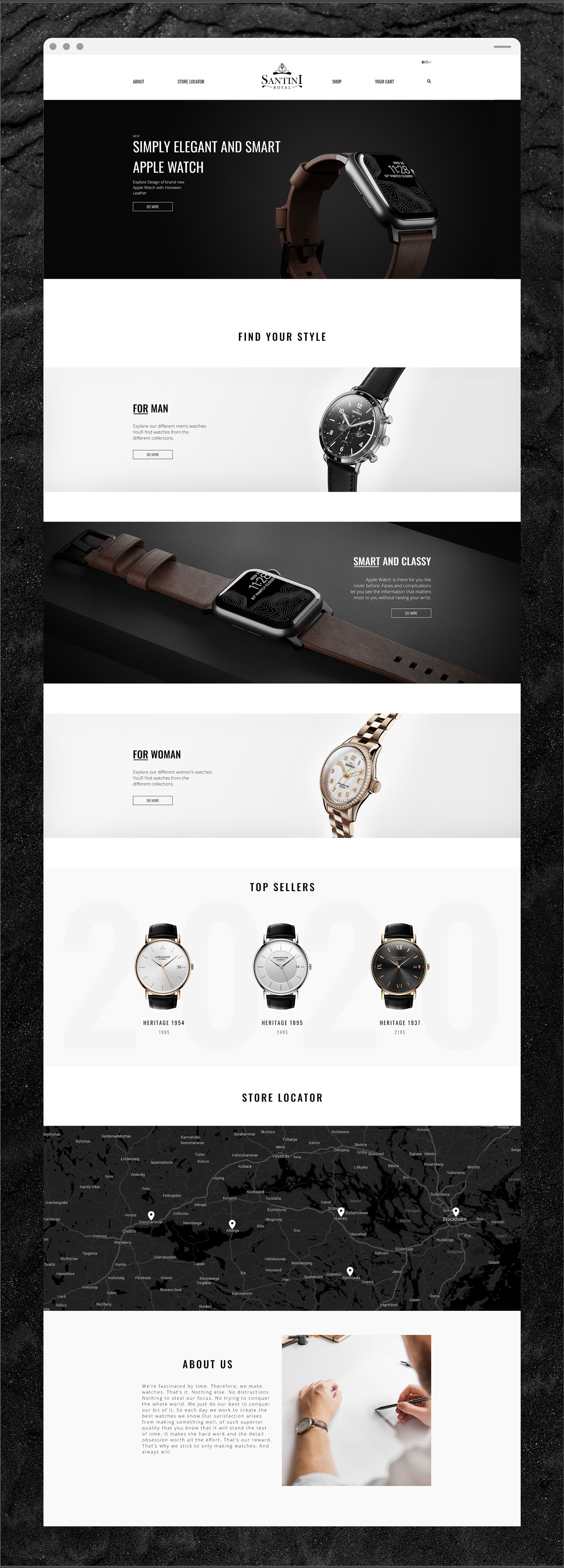 Santini Royal Case Study Full Landing Page Showcase