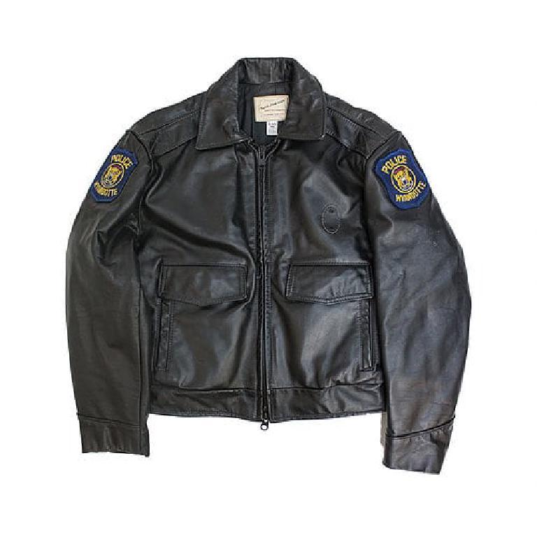 Leather US police jacket