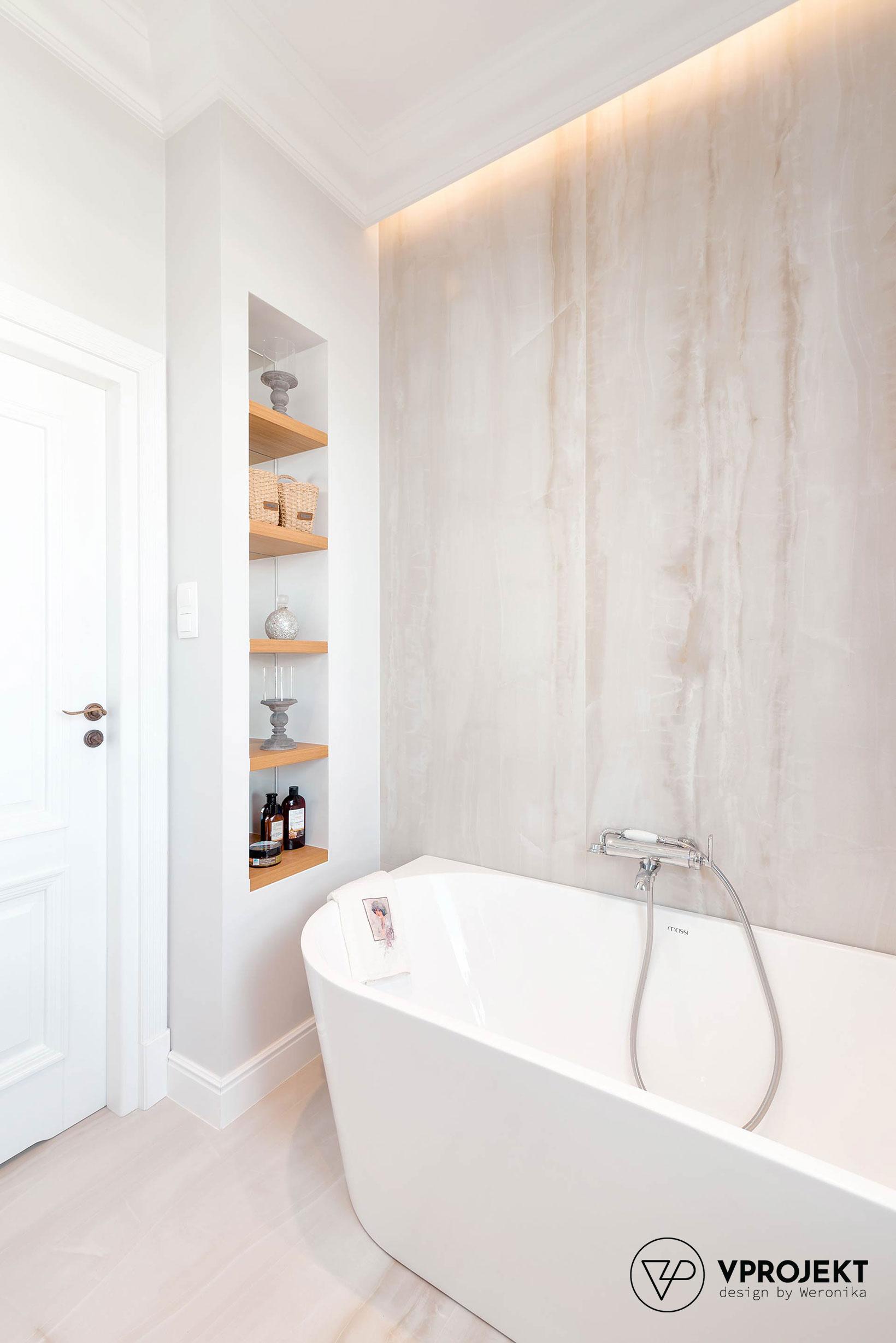 Projekt łazienki, mieszkanie w Olsztynie, Vprojekt