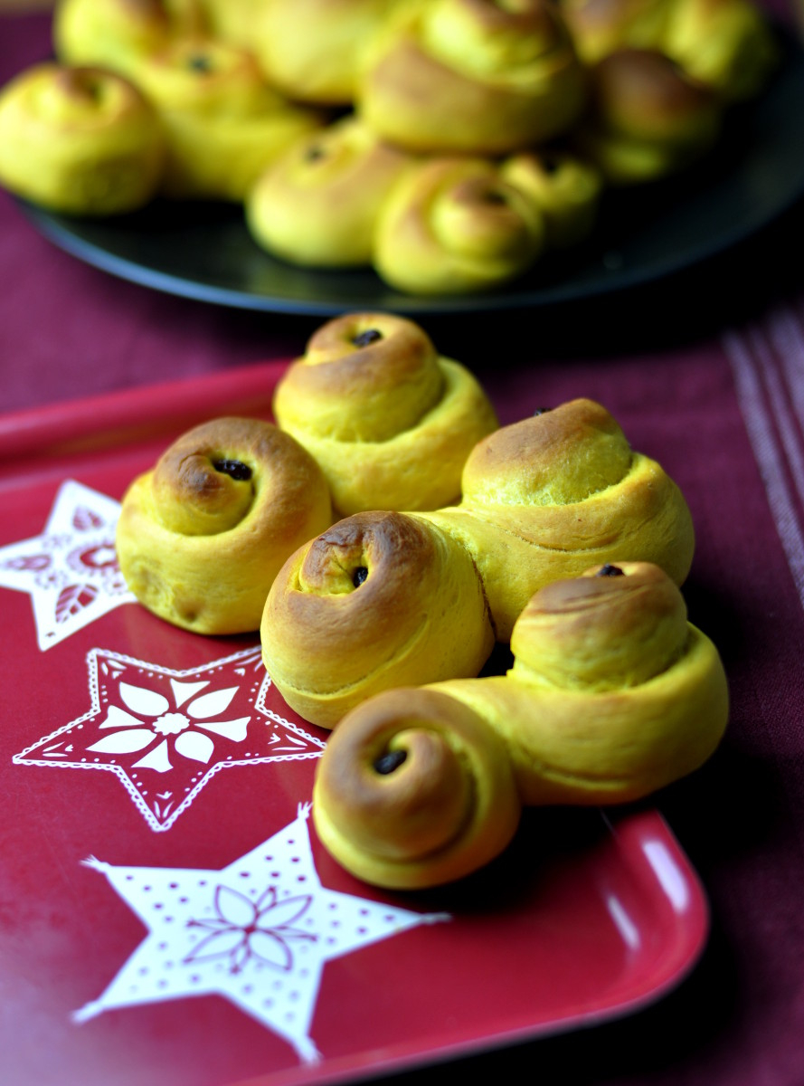 Lussekatt Swedish Saffron Rolls