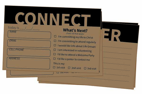 Connection Card Example