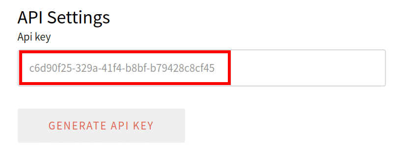 Copy this key