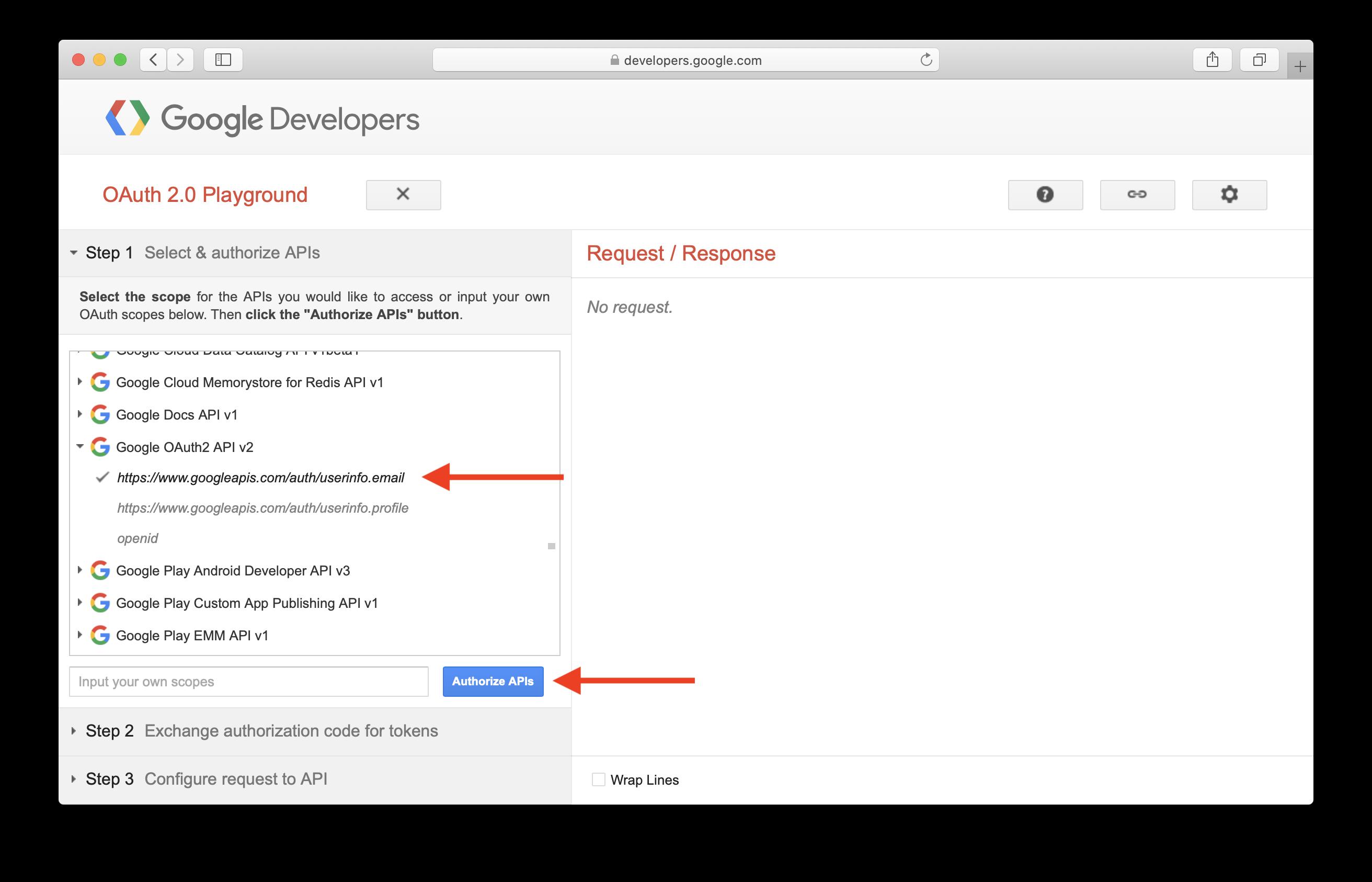 Select Google OAuth2 API v2