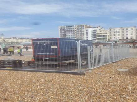 Ground Protection & Temp Fencing  – Brighton Beach