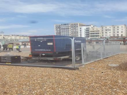 Ground Protection & Temp Fencing  – Brighton Beach