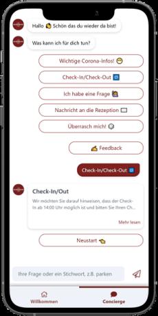 Chatbot in der digitalen Gästemappe