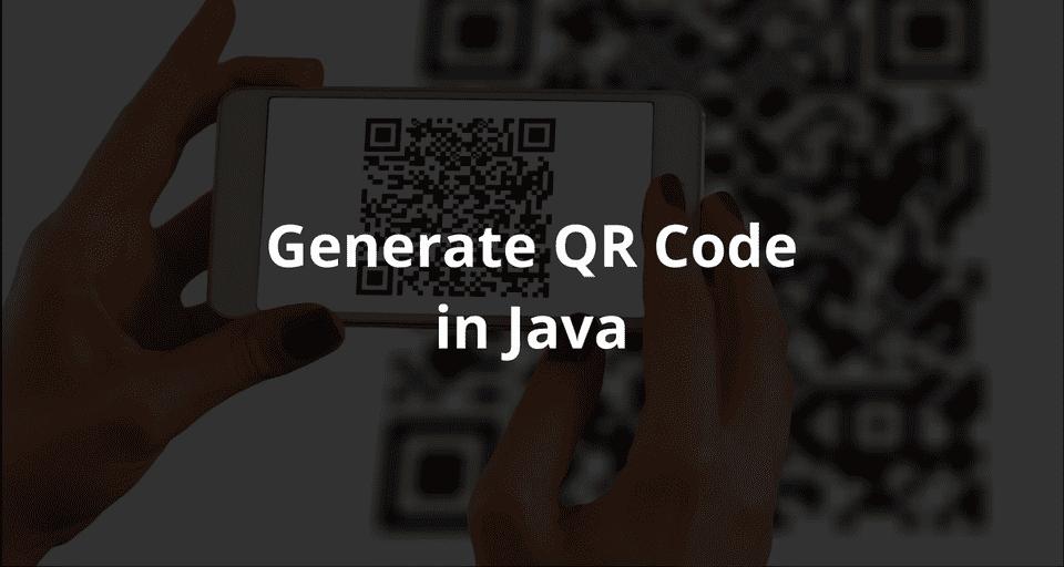 Generate QR Code in java using zxing