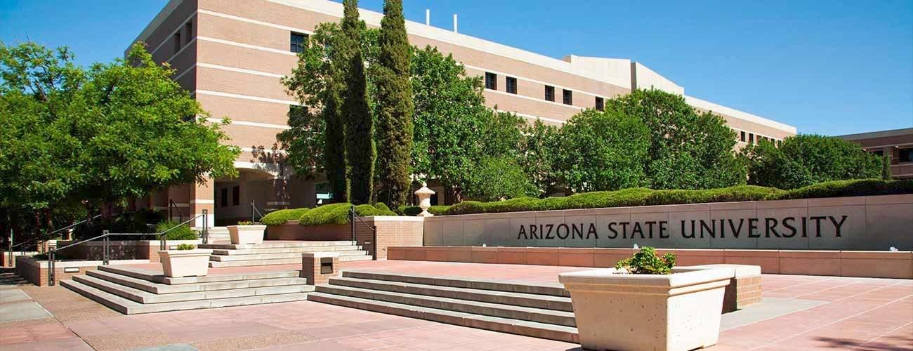 Campus shot of the Arizona State University