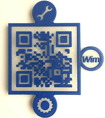 A 3D-printed puzzle piece