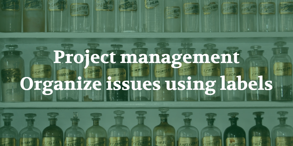 Project management - Organize issues using labels