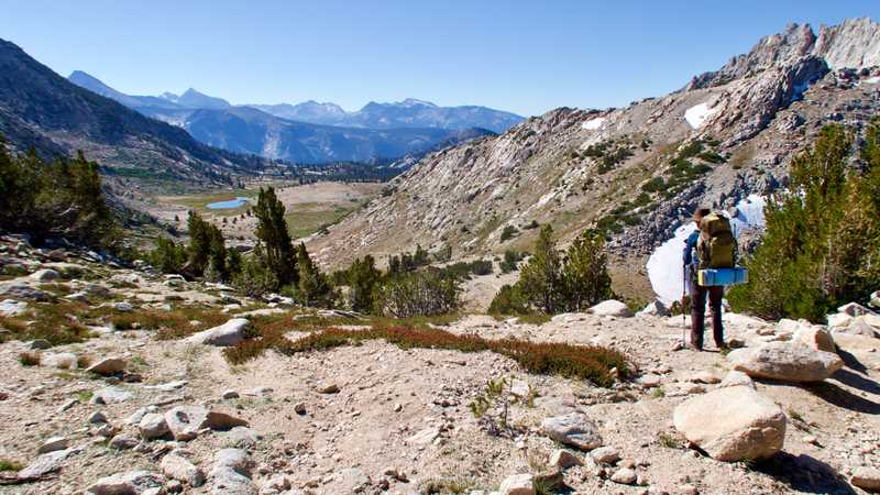 a view from Silver Pass