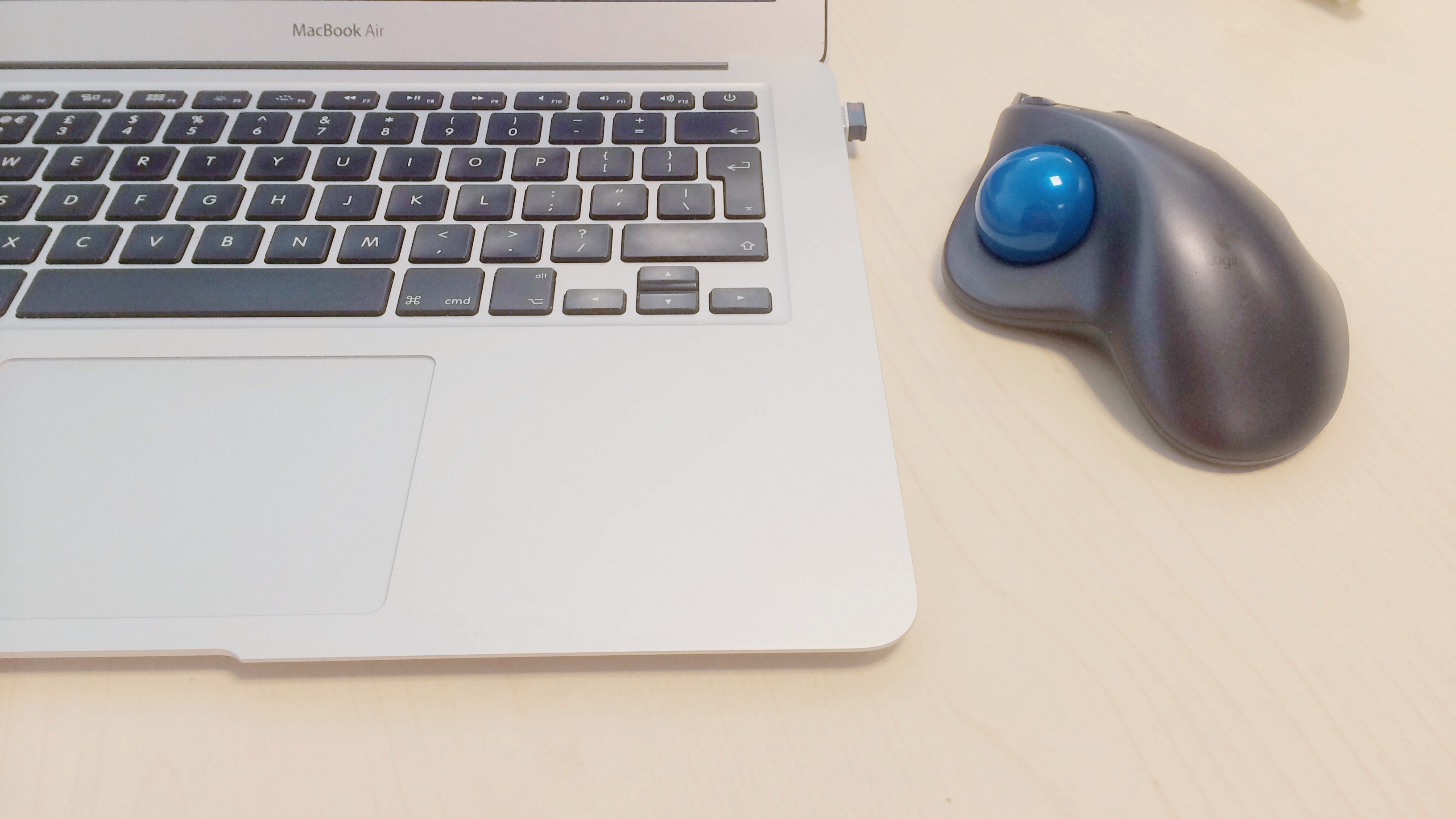 Keyboard and trackball