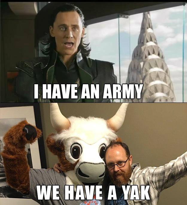we have a yak