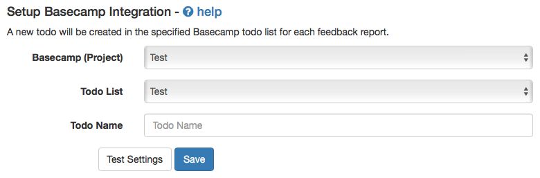 Basecamp Integration Stage 3