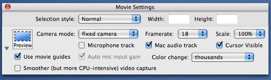 Capture settings