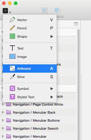 Sketch 3 - Insert New Artboard