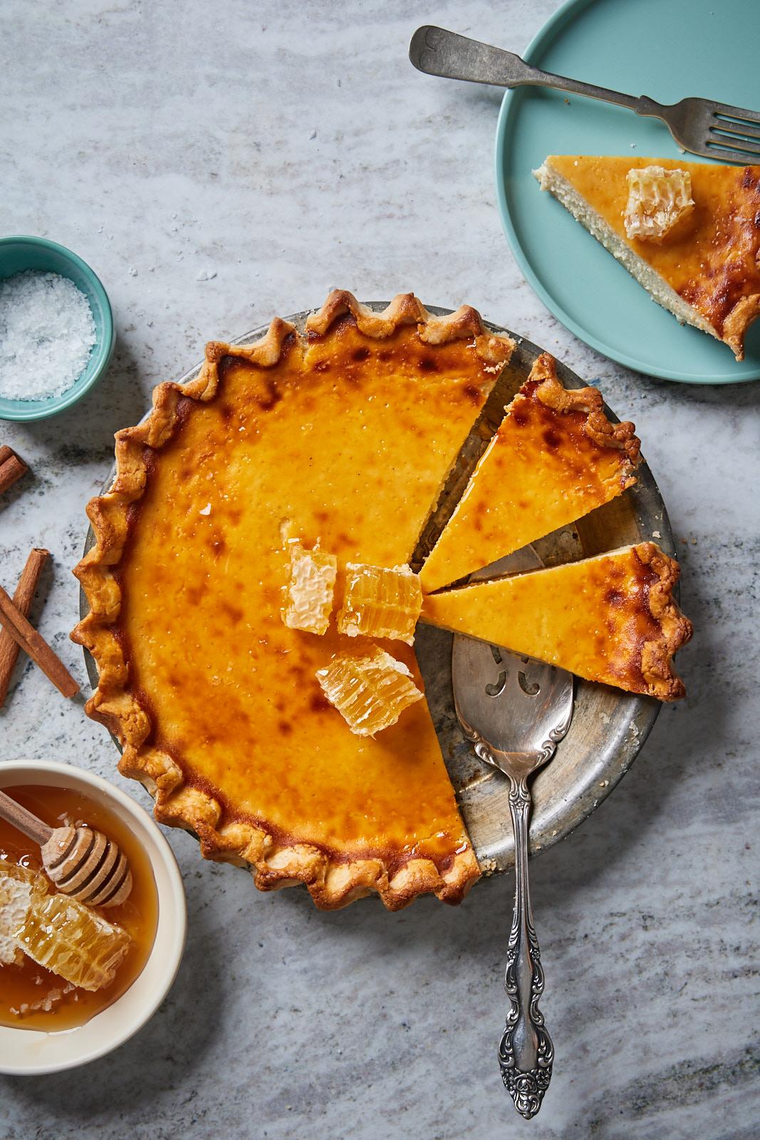 Greek Honey Ricotta Pie Melopita