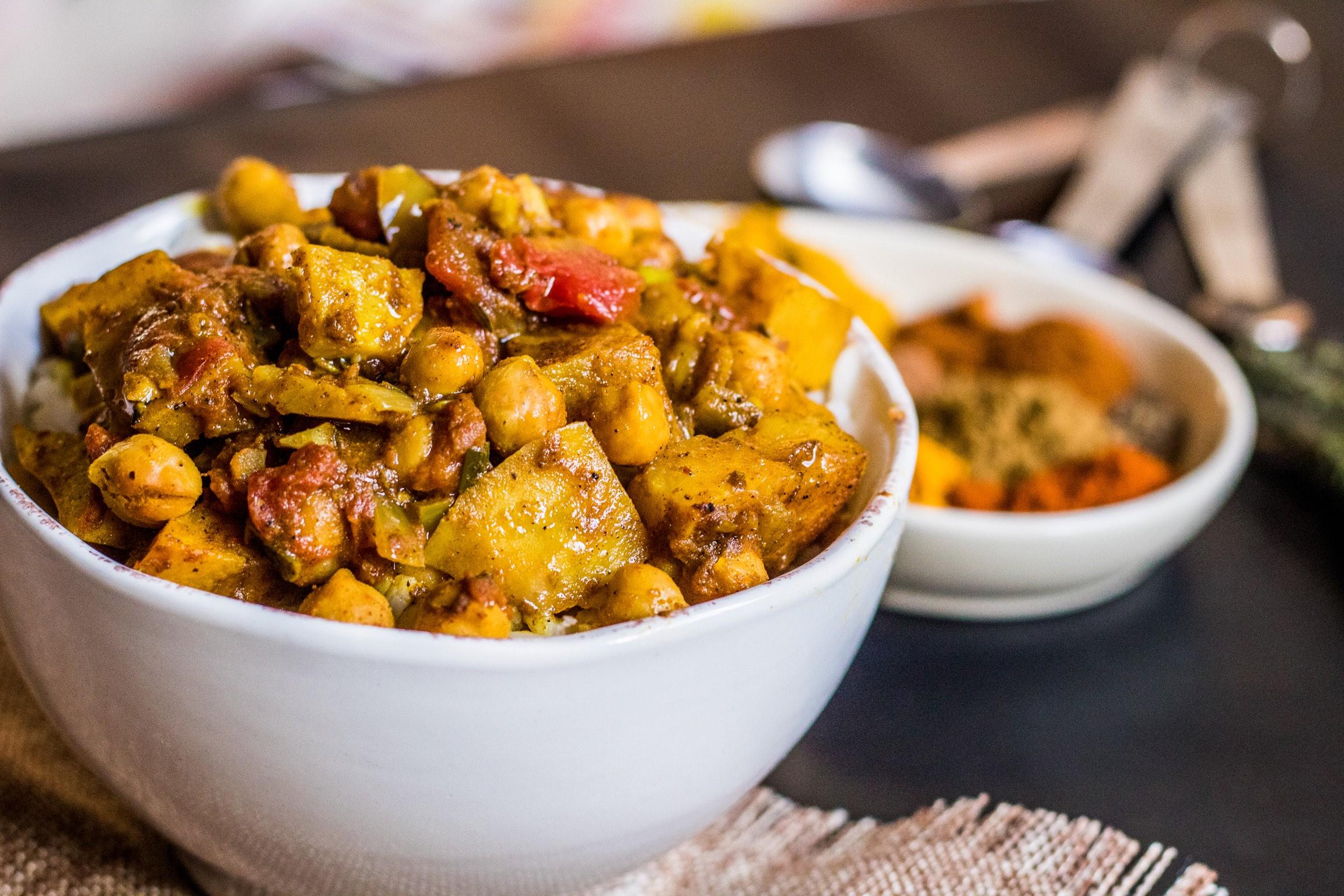 Sweet potato and chana (chickpea) curry