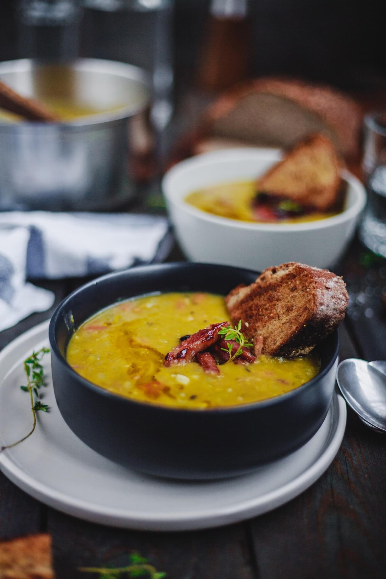 Split Pea Soup And Ham Bone