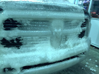 Frozen Dodge Ram Ice