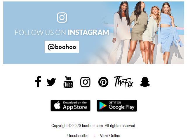 Boohoo social share button