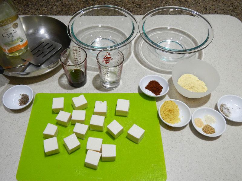 Fried Tofu Setup