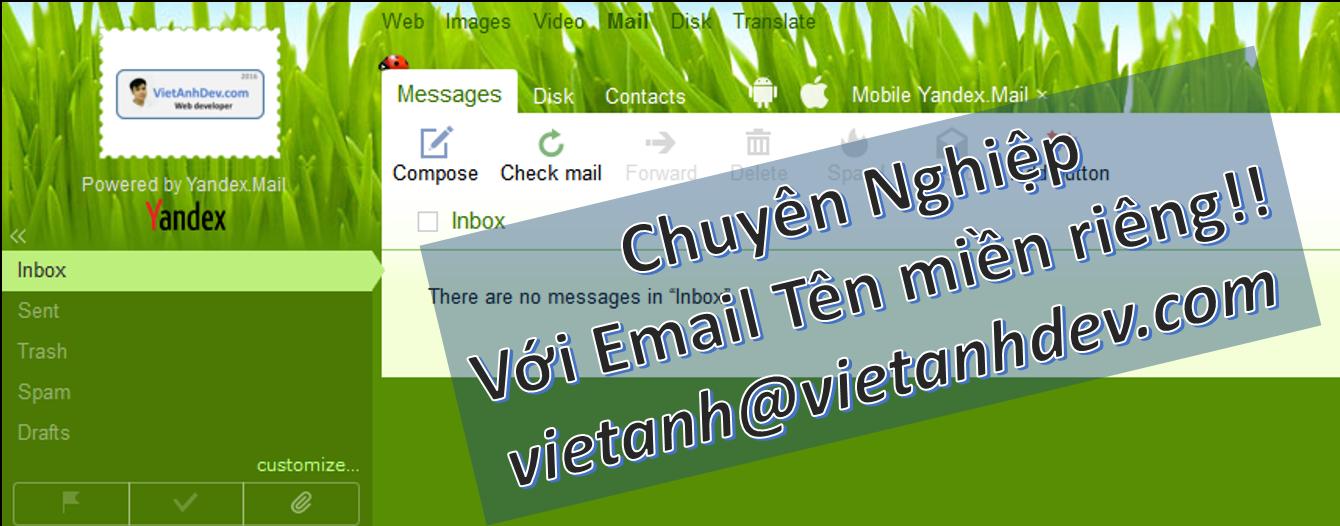 Minh họa domain mail