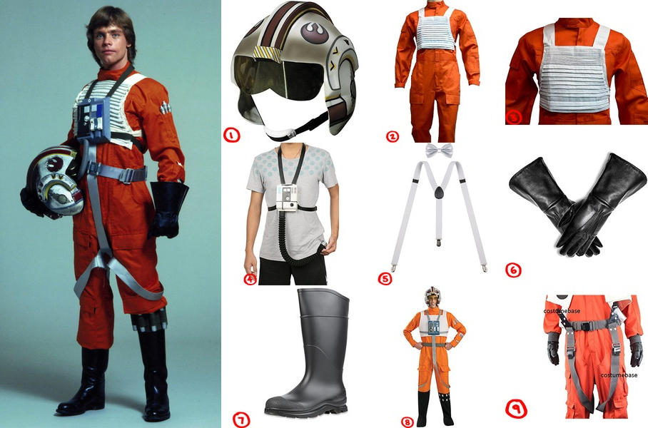Dress Like X-Wing Pilot From Star Wars Costume For Cosplay