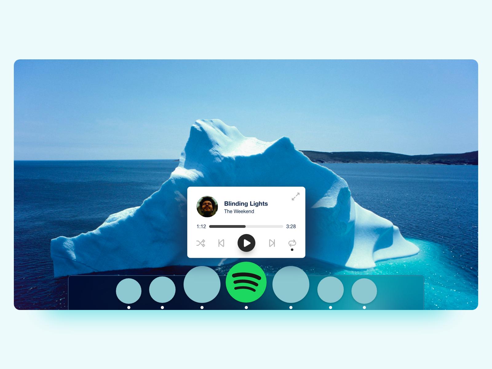 Spotify mac dock popover