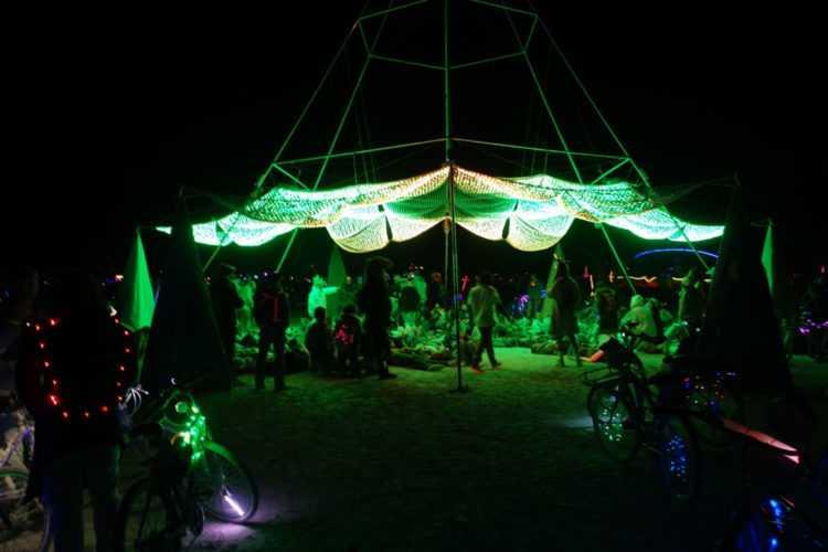 Burning Man Firmament Led canopy
