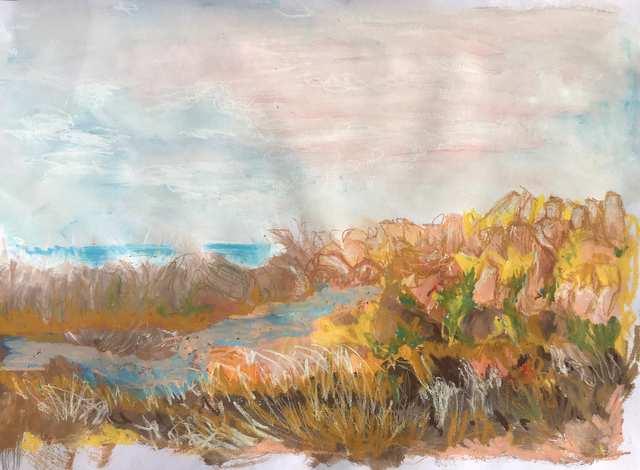 Oceania Feeling Marramarang Beach, acrylic on paper