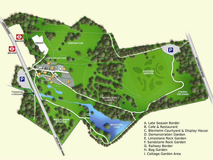 Map of Golden Acre Park