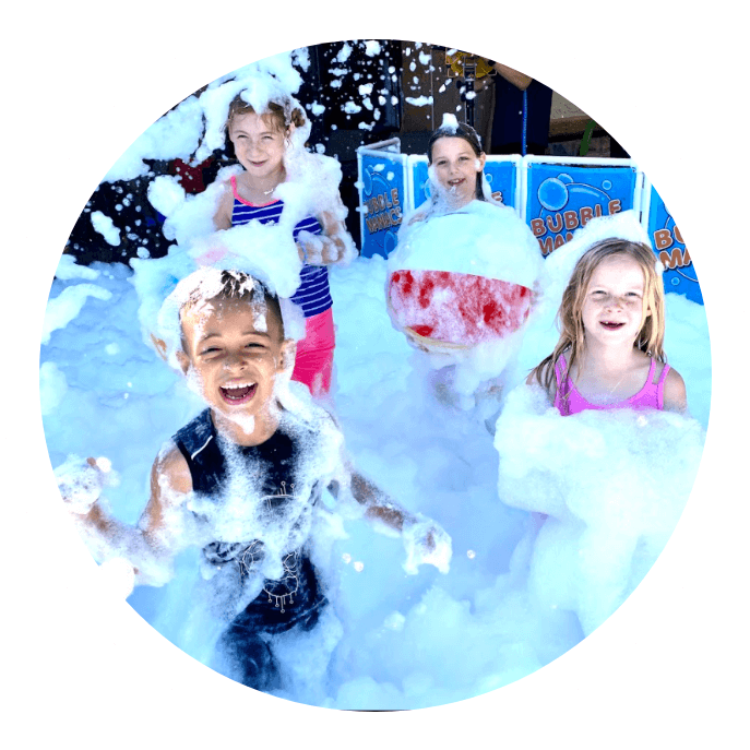 Foam party for children.