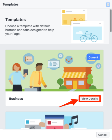 FB page templates