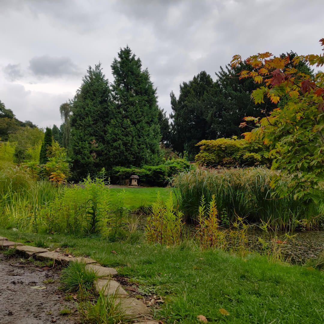 Horsforth Hall Park Japanese Garden pond
