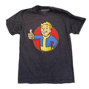 Fallout Vault Boy Charcoal Heather T-Shirt