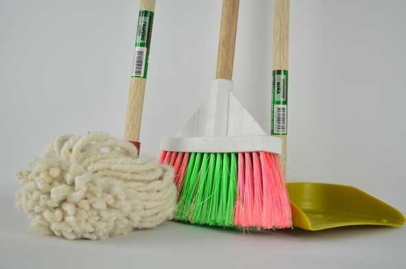 verschillende spullen om schoon te maken