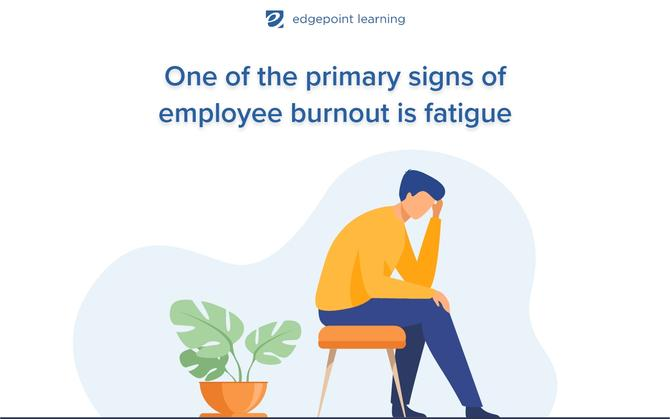 One of the primary signs of employee burnout is fatigue