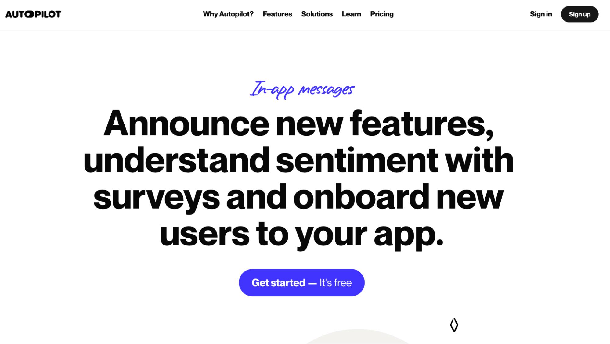 User Onboarding Software: Autopilot screenshot