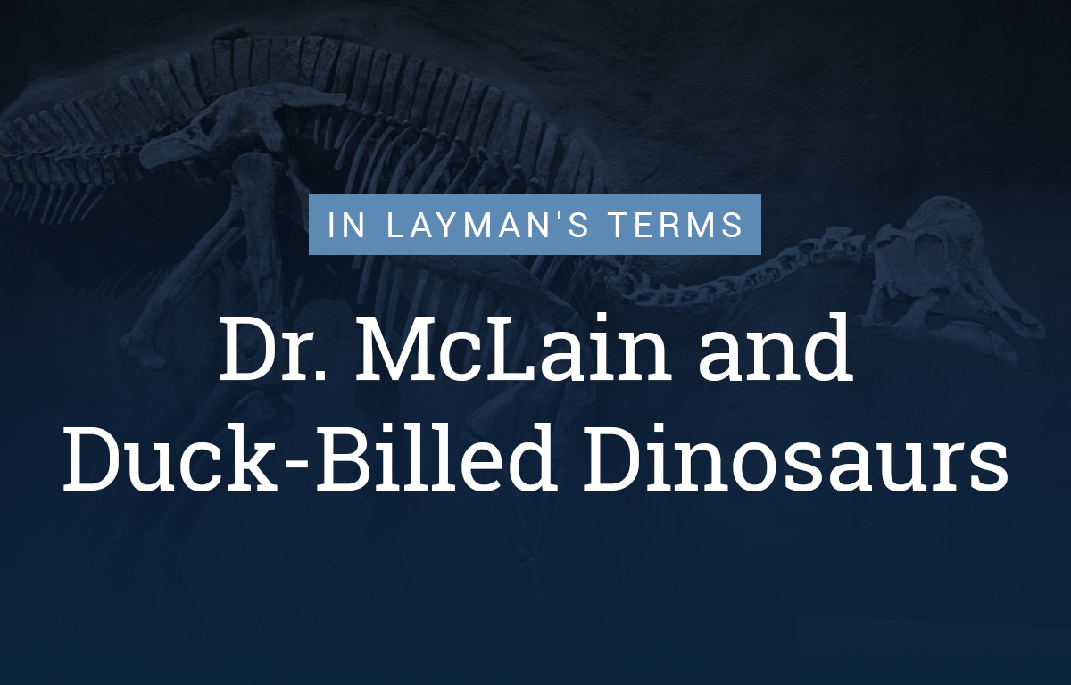 Dr. McLain and Duck-Billed Dinosaurs